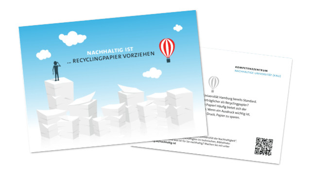 Postkarte Recycling